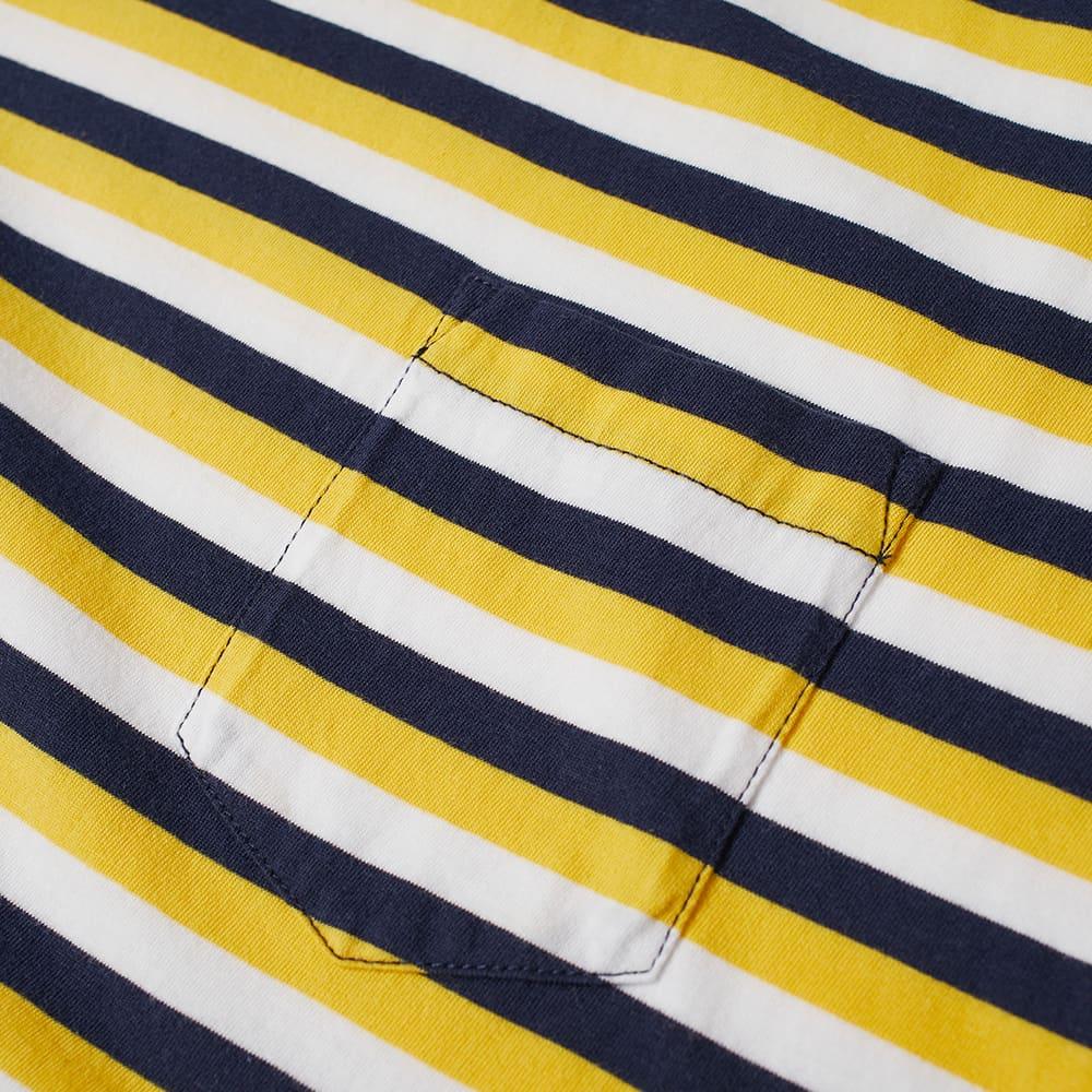 Albam Classic Stripe Tee - Mustard Yellow