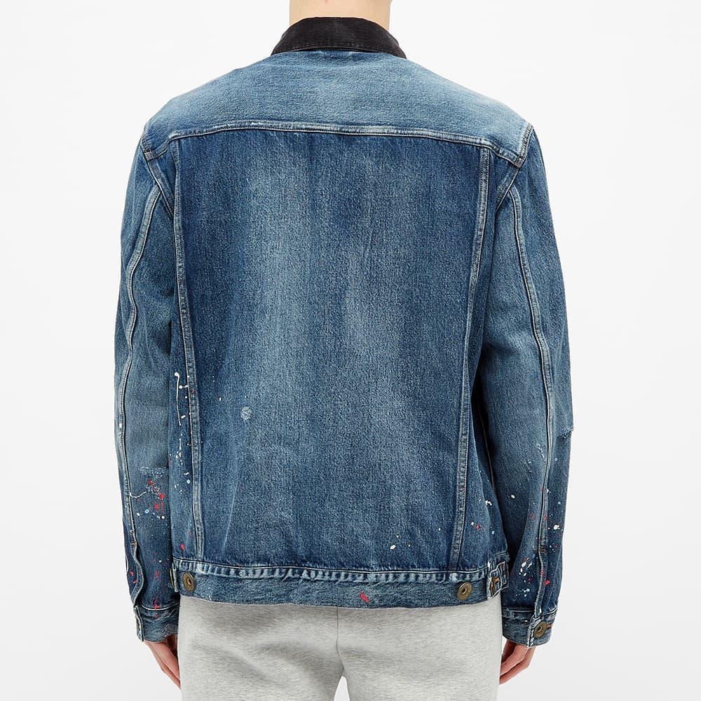 Maison MIHARA YASUHIRO Paint Splatter Layered Denim Jacket - Indigo