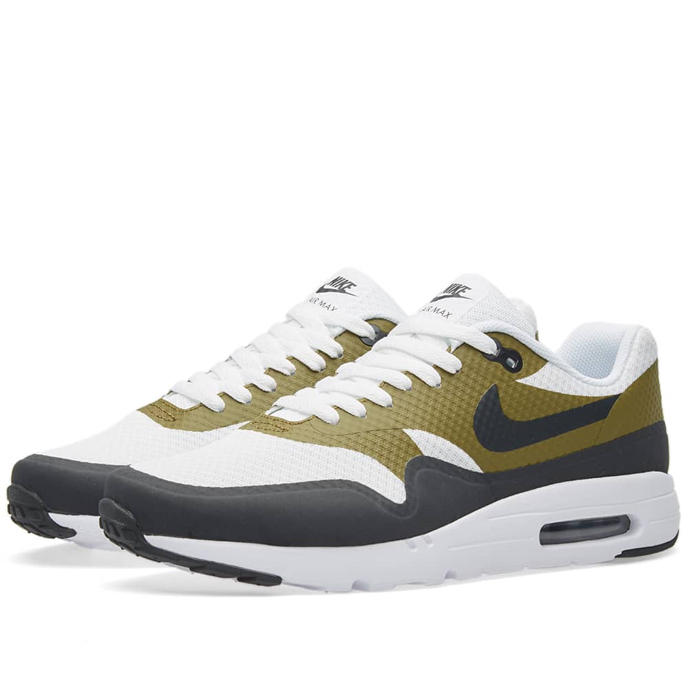 Nike Air Max 1 Ultra Essential BlancheNoir Olive 819476 107