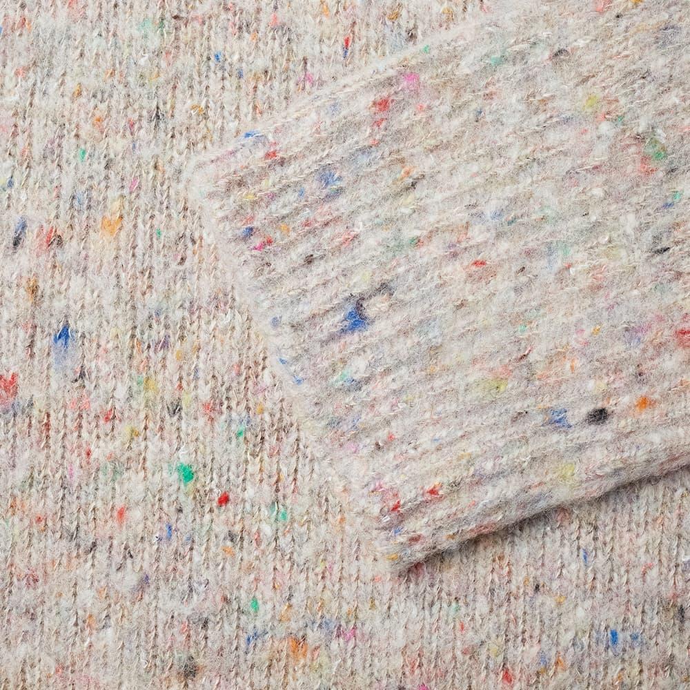 Acne Studios Nyran Melange Roll Neck Knit - Beige & Multi