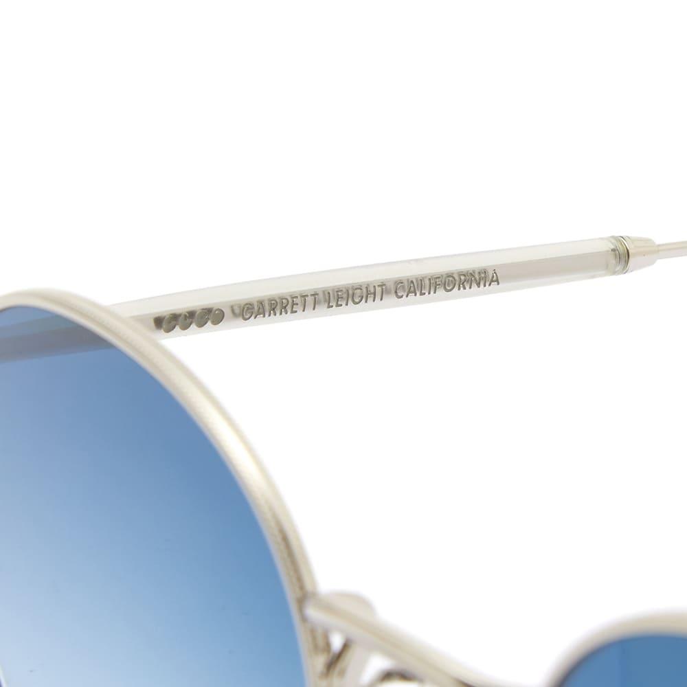 Garrett Leight Wilson M Sunglasses - Silver Matte & Cobalt Gradient