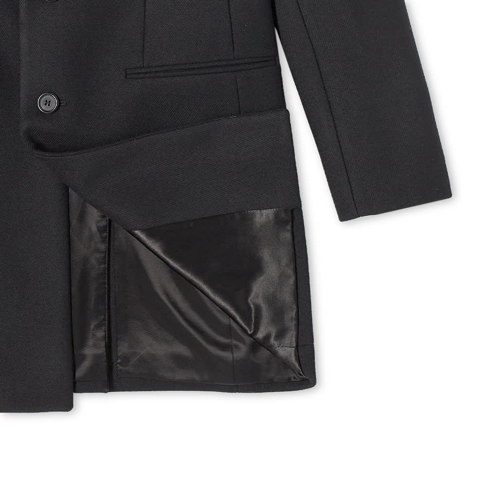 Saint Laurent Classic Single Breasted Wool Coat - Black