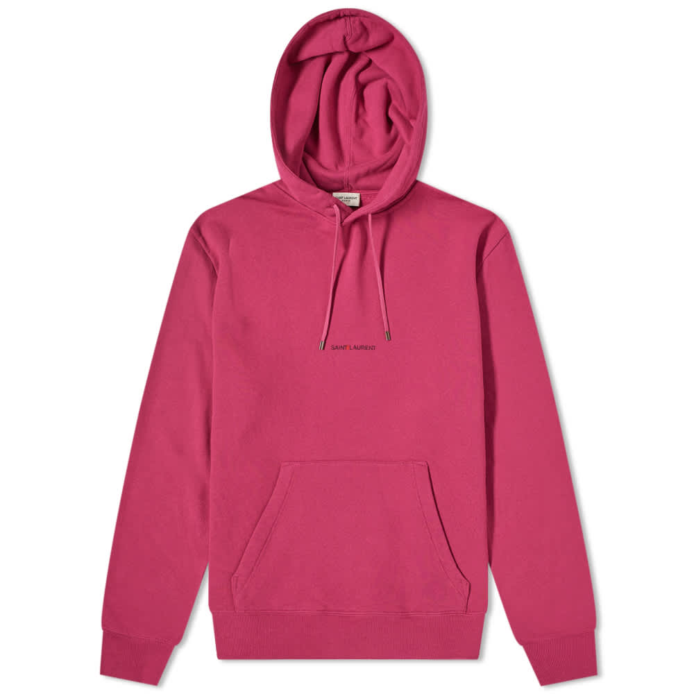 Saint Laurent Archive Logo Hoody - Pink
