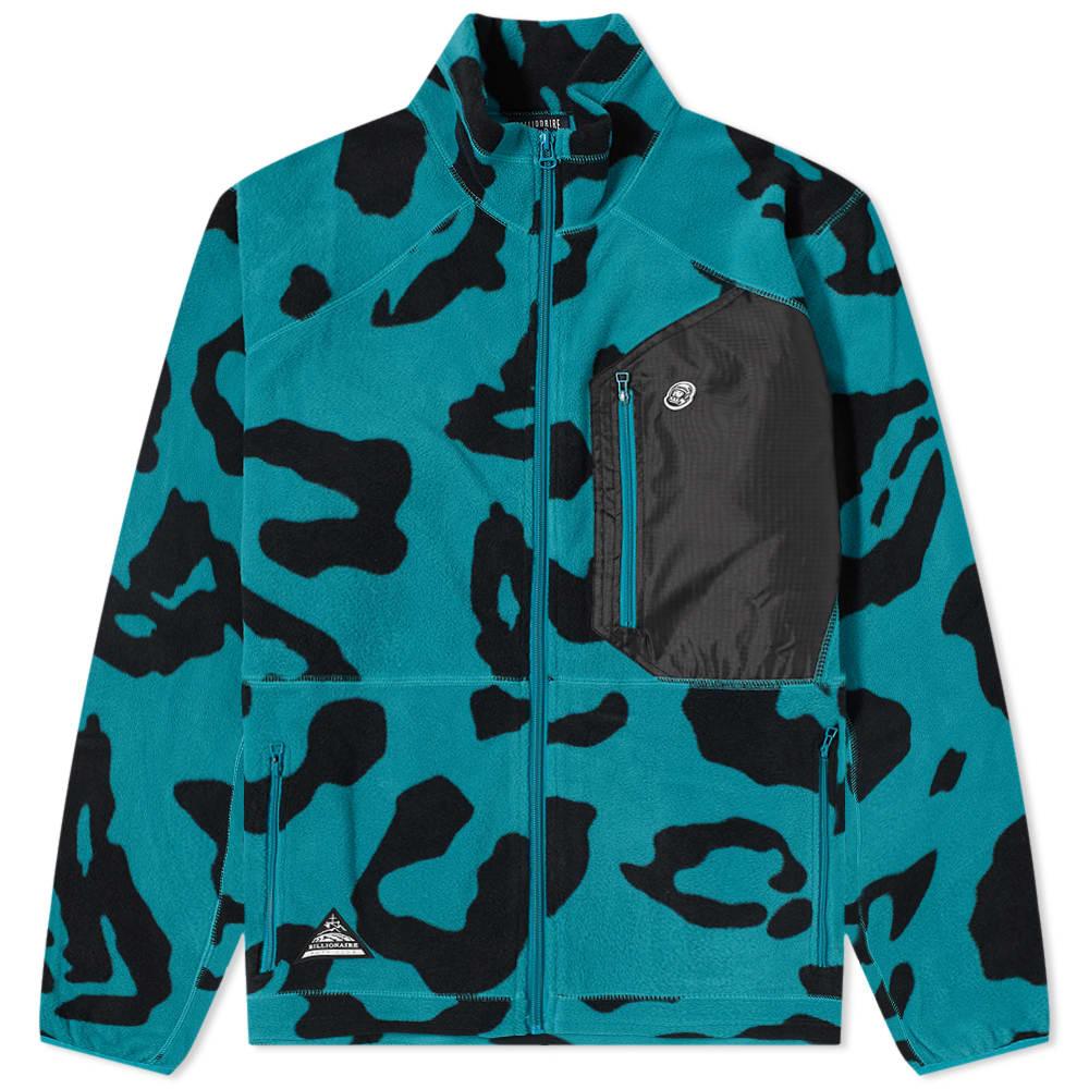 Billionaire Boys Club Leopard Fleece Jacket - Teal