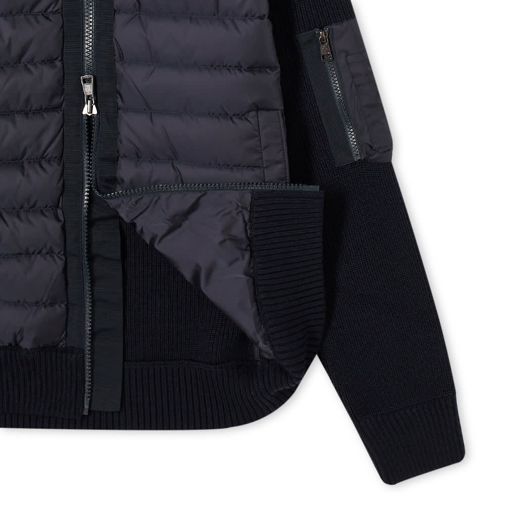 Moncler Hooded Down Knit Jacket - Navy