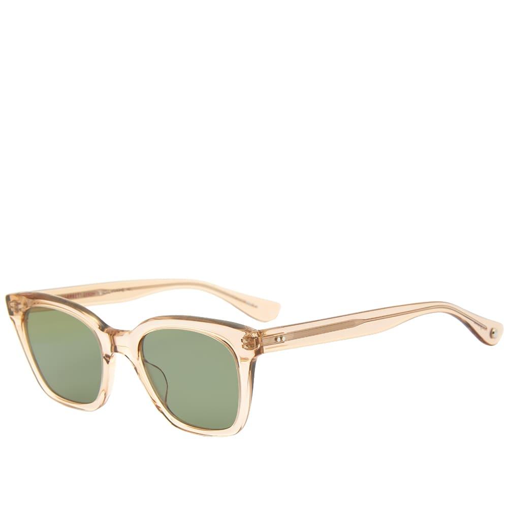 Garrett Leight x Clare Vivier Nouvelle Sun Sunglasses - Brew & Semi, Flat Green