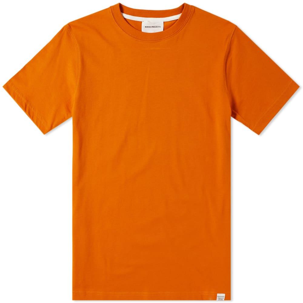 Norse Projects Niels Standard Tee - Oxide Orange