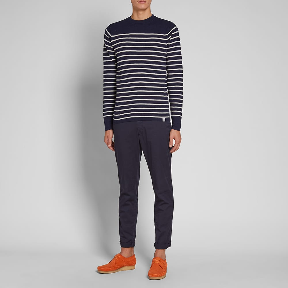 Norse Projects Verner Normandy Crew Knit - Navy & Ecru