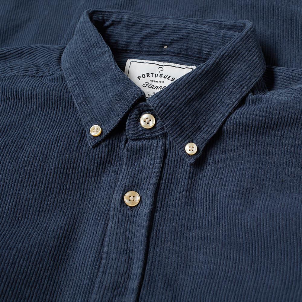 Portuguese Flannel Lobo Button Down Corduroy Shirt - Navy