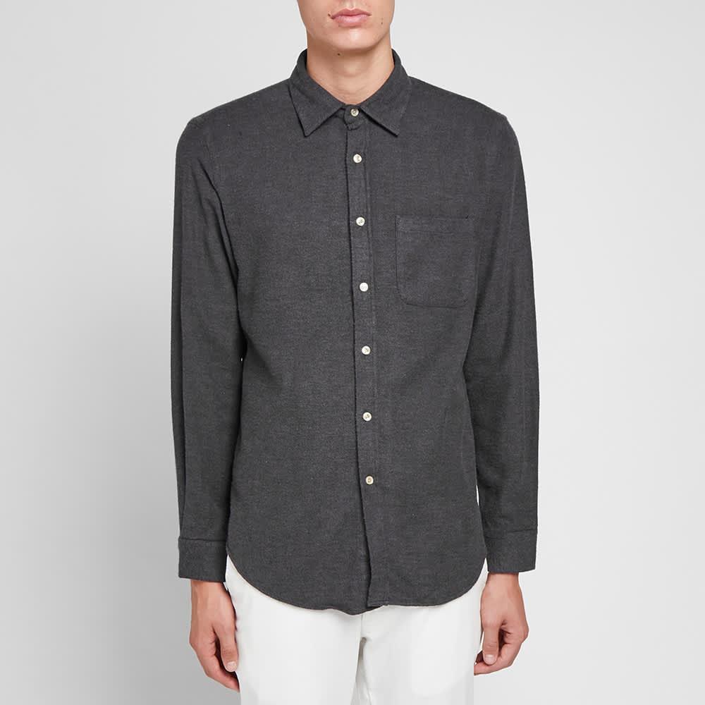 Portuguese Flannel Teca Shirt - Dark Grey