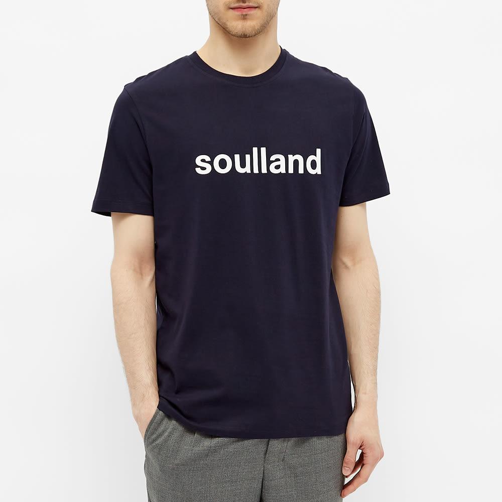 Soulland Logic Chuck Logo Tee - Navy