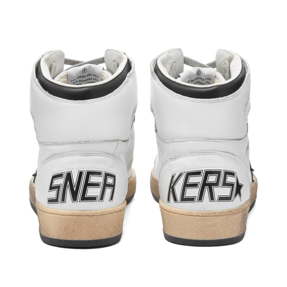 Golden Goose Sky Star Leather Sneaker - White & Black