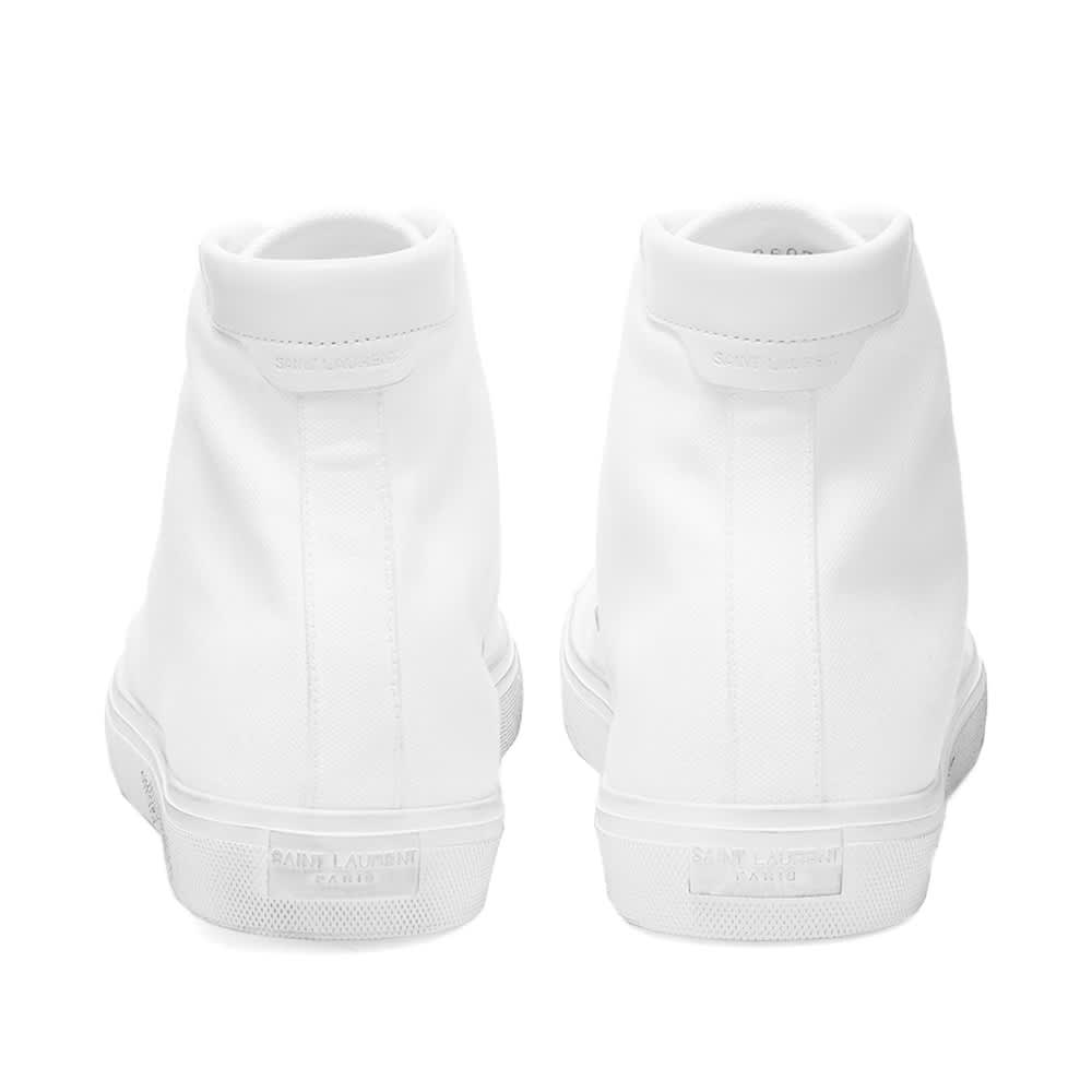 Saint Laurent Malibu Mid Signature Sneaker - White