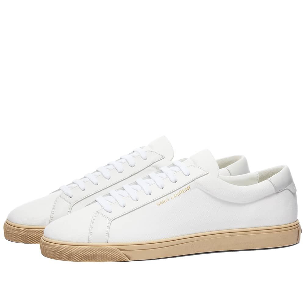 Saint Laurent Andy Low Canvas Sneaker - Off White