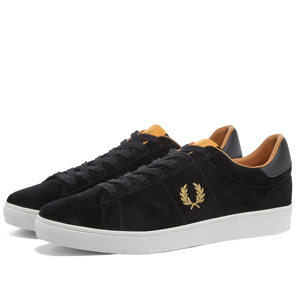 Fred Perry Spencer Suede Sneaker - Black