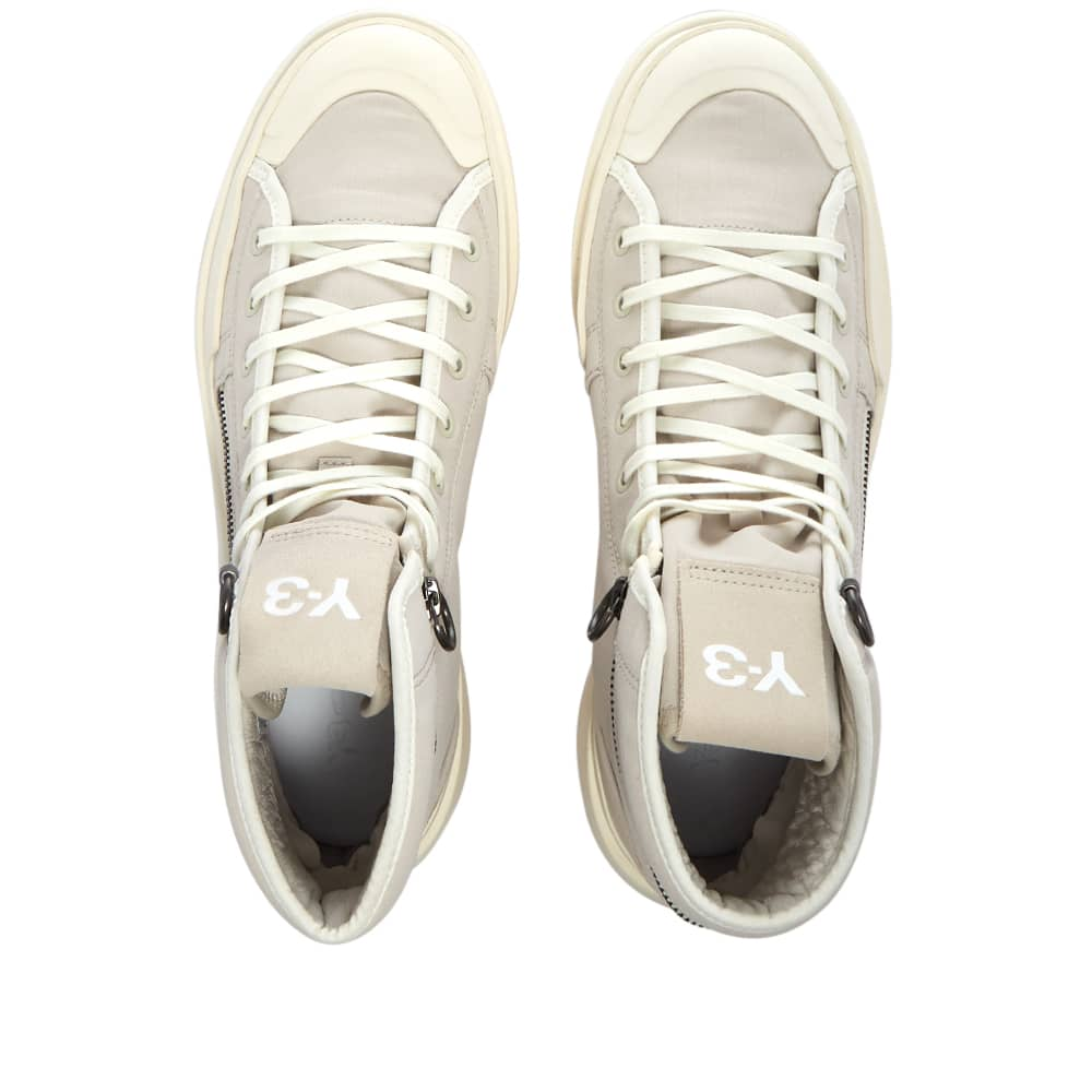 Y-3 Court High V1 - Clear Brown & White