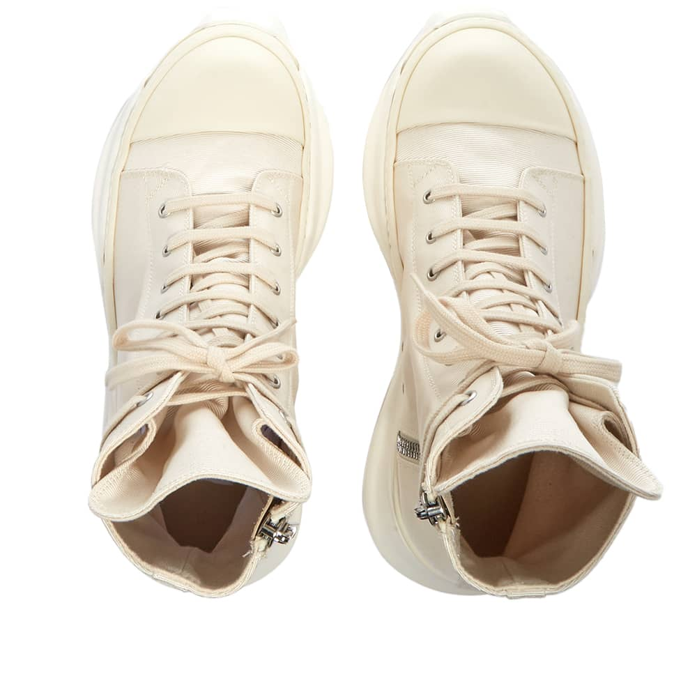 Rick Owens DRKSHDW Abstract Sneak Cotton Twill Sneaker - Natural & White
