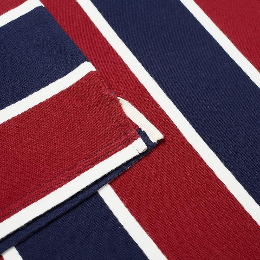 Manastash Long Sleeve Rugby Stripe Tee - Navy & Bordeaux