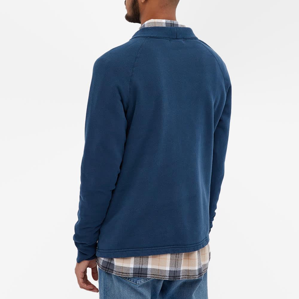 Velva Sheen 8oz Pigment Dyed Freedom Cardigan - Navy
