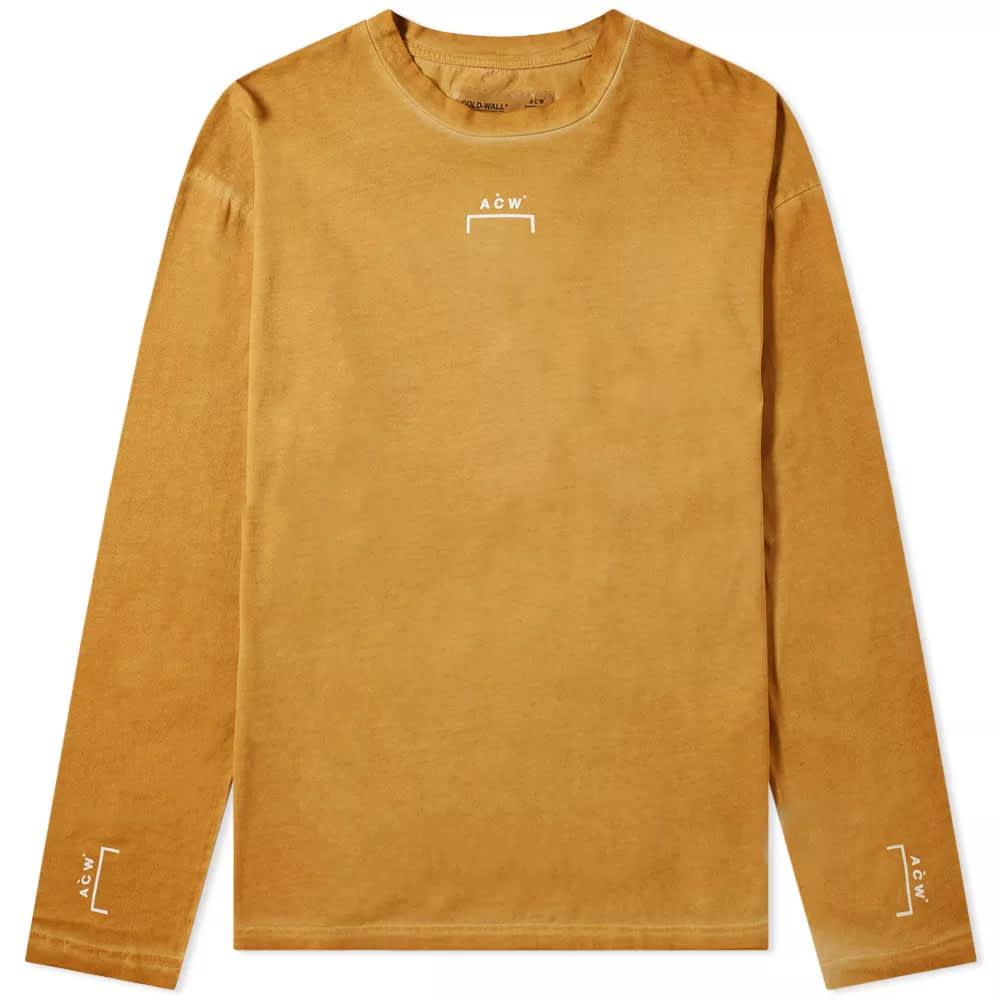 A-COLD-WALL* Long Sleeve Bracket Logo Tee - Rust