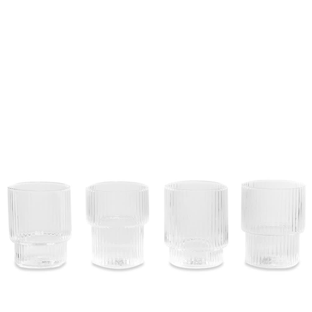 Ferm Living Ripple Small Glasses - Set of 4 - Clear
