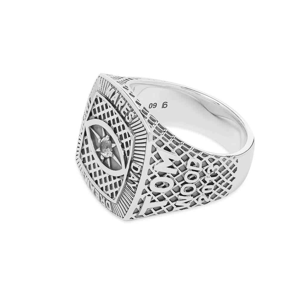 Tom Wood Champion Ring Crystal Eye - Sterling Silver