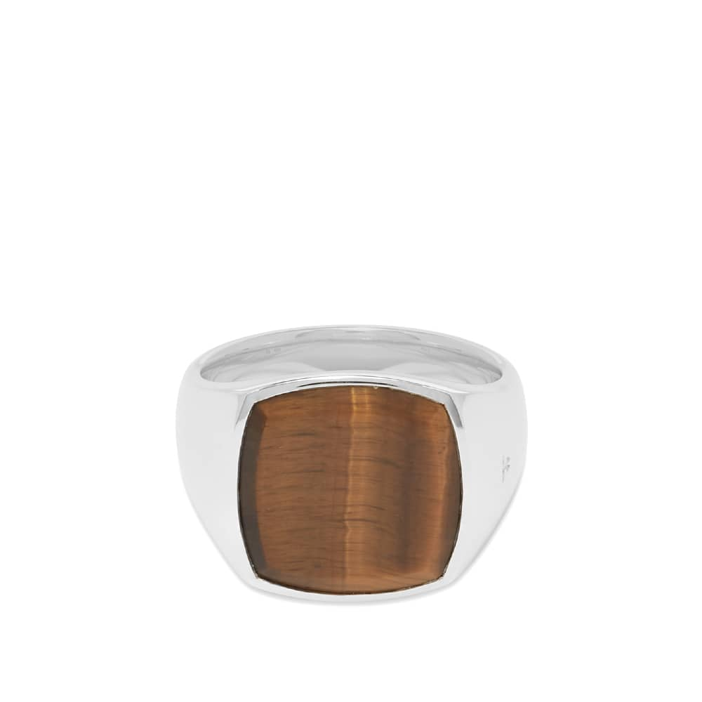 Tom Wood Cushion Tiger Eye Ring - Sterling Silver