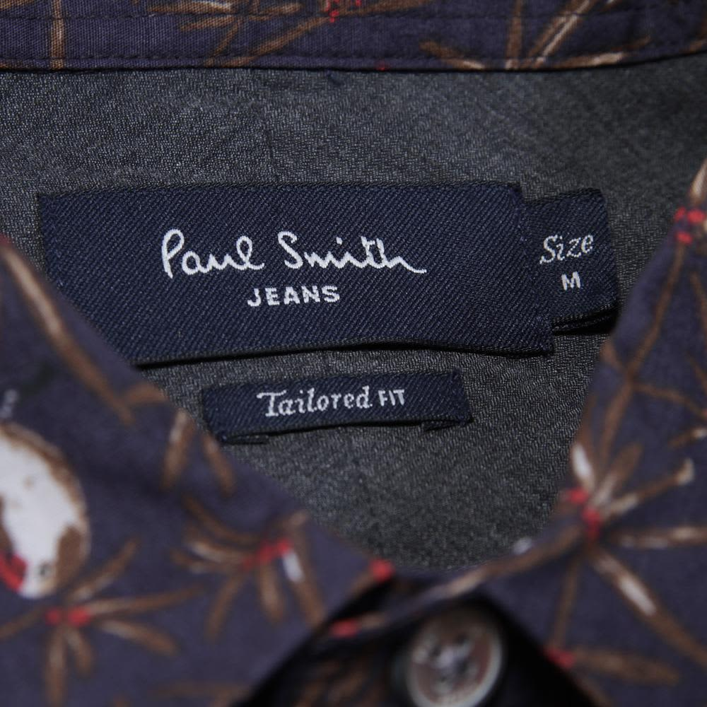 Paul Smith Tailored Fit Shirt - Navy Parrot Print