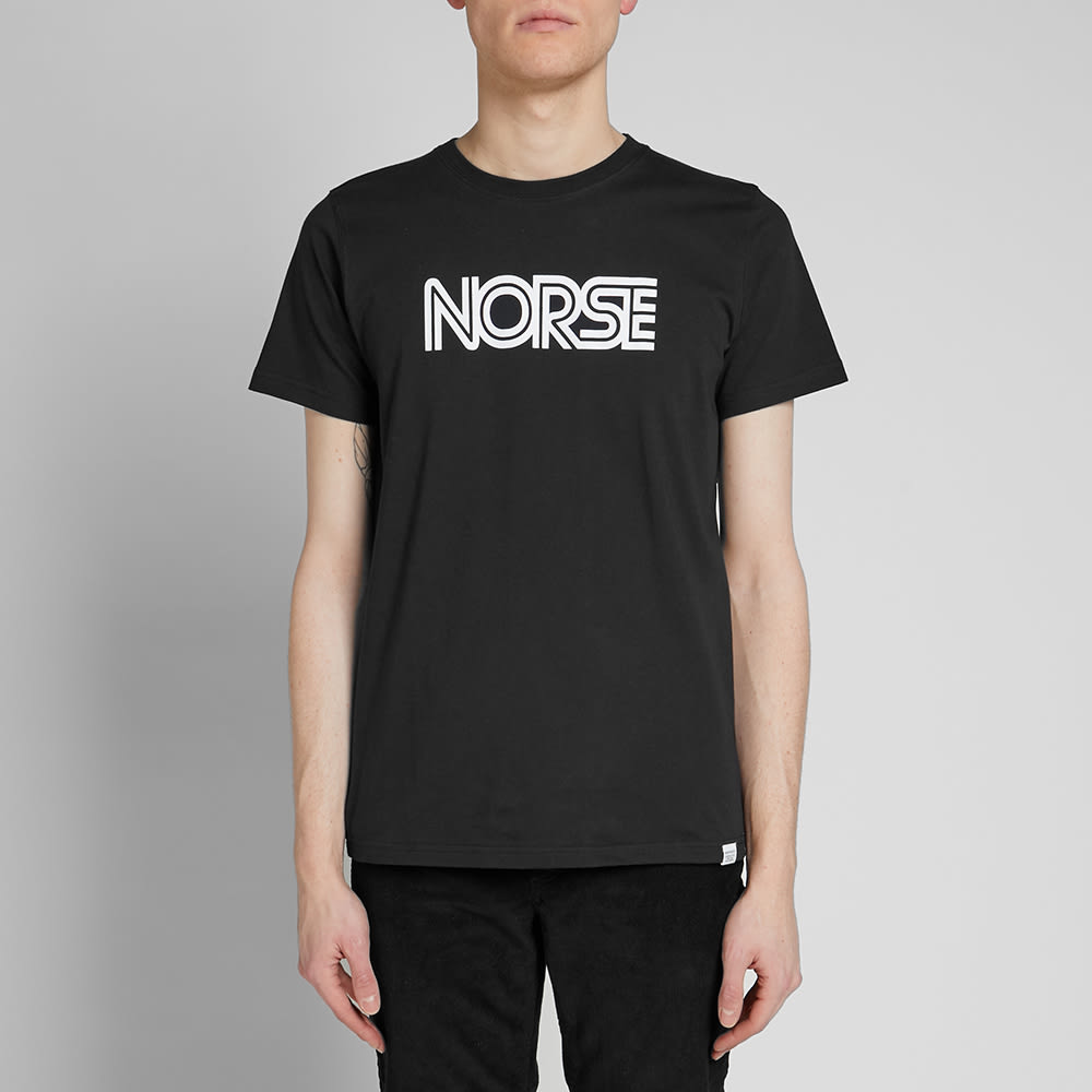 Norse Projects Niels Nautical Logo Tee - END. Exclusive - Black