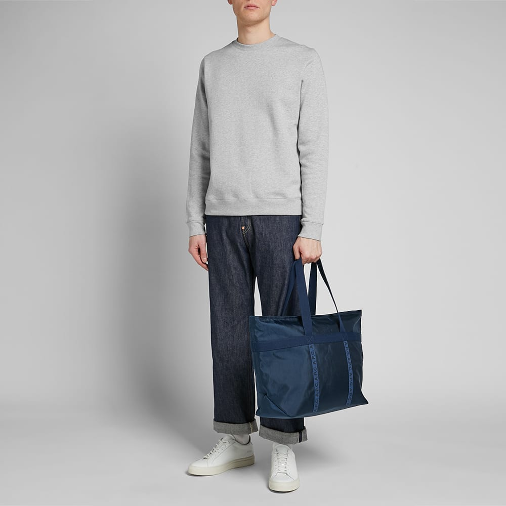 Norse Projects Vagn Classic Patch Logo Crew Sweat - Light Grey Melange