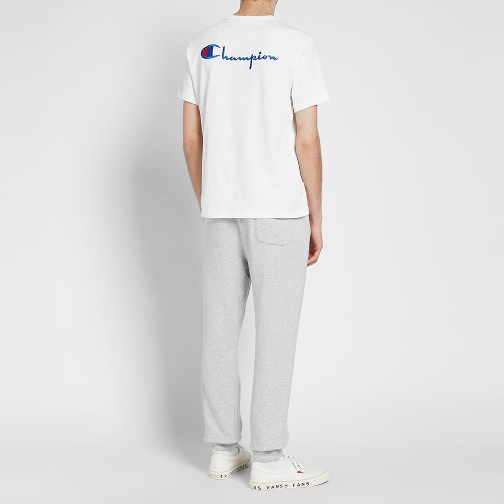 Champion Reverse Weave Rear Script Logo Tee - White