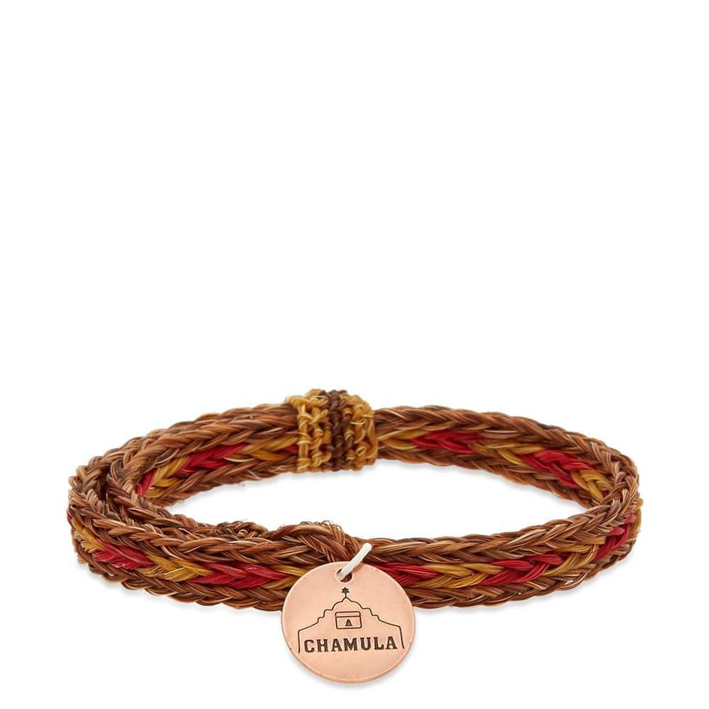 Chamula Braided Horsehair Bracelet - Brown & Yellow