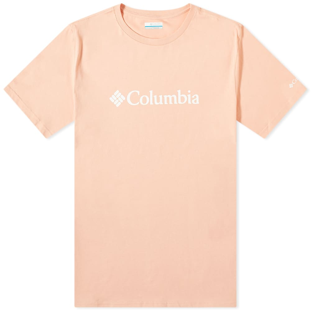 columbia logo tee light coral end end