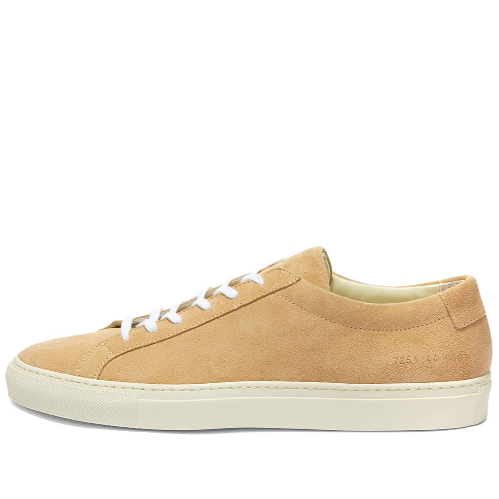 Common Projects Original Achilles Low Suede Contrast Sole - Amber