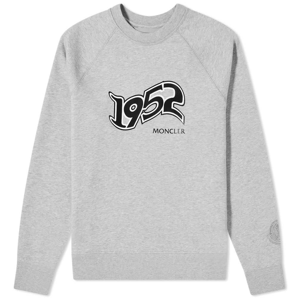 Moncler Genius 2 Moncler 1952 Logo Sweat - Grey Marl