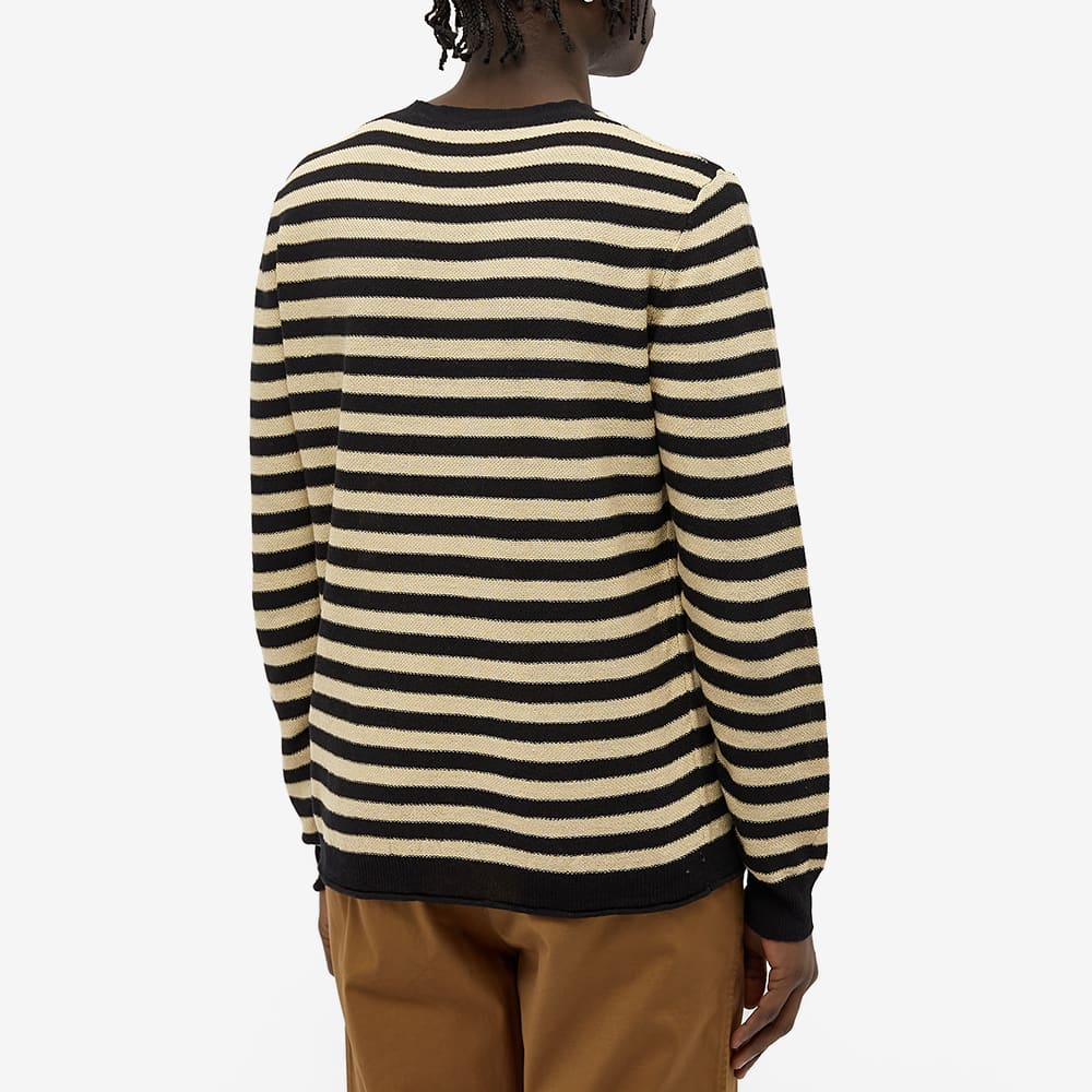 Barena Striped Knit Crew - Black