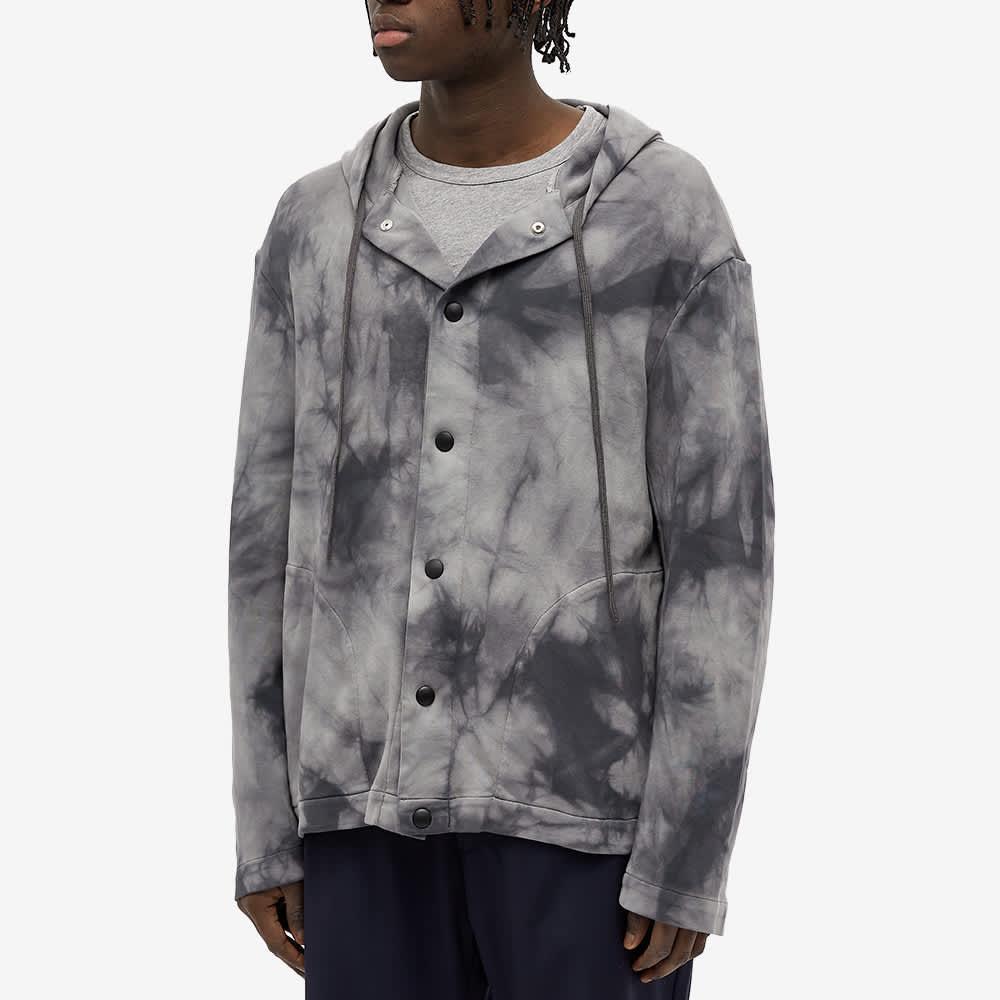 Barena Tie Dye Hooded Overshirt - Lead