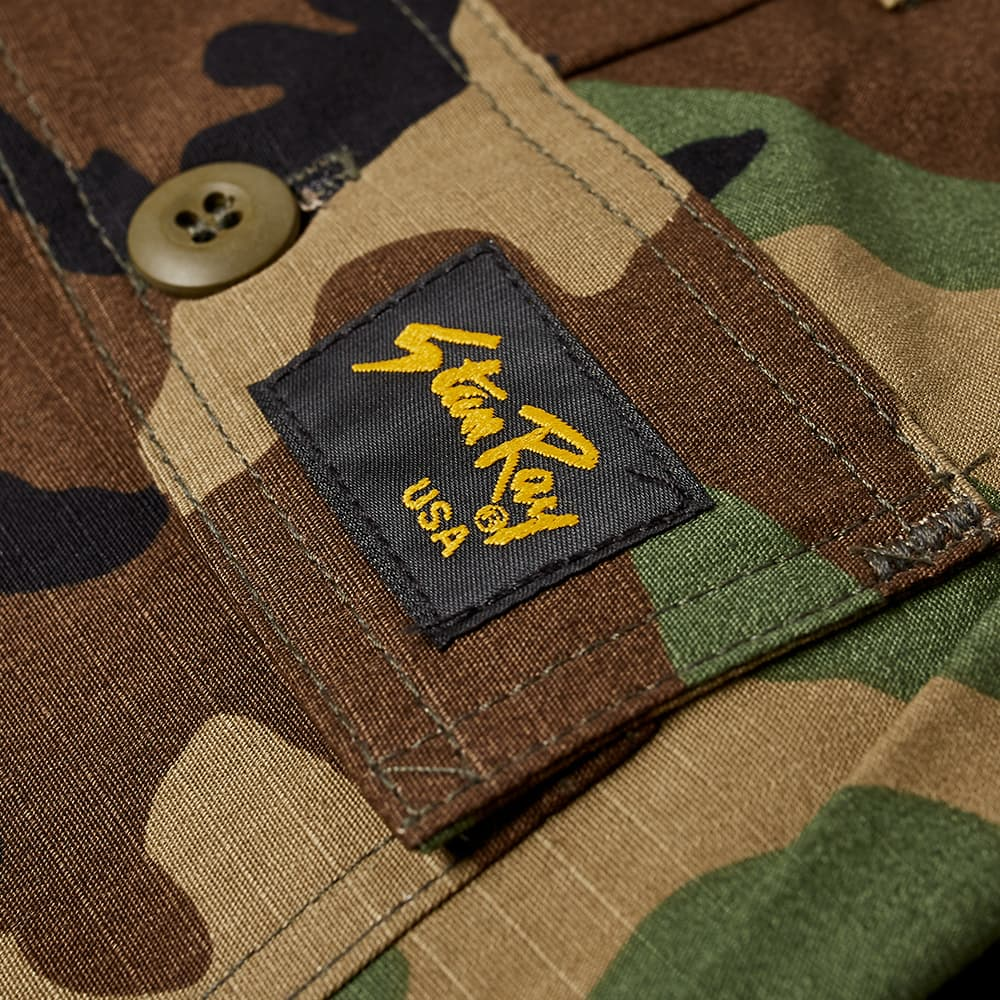 Stan Ray Taper Fit 4 Pocket Fatigue Pant - Woodland Camo Ripstop