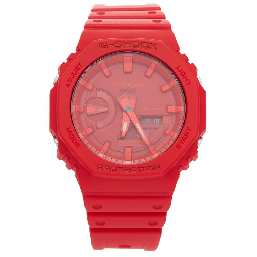 Casio G-Shock GA-2100 New Carbon Watch - Red