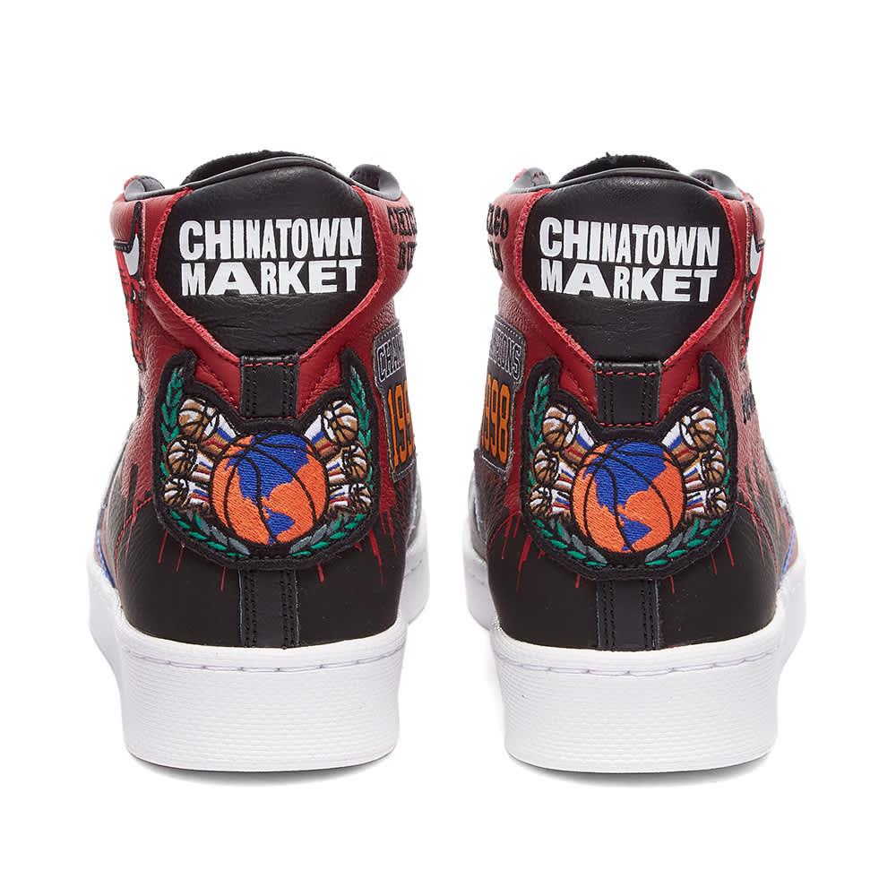 Converse x Chinatown Market Pro Leather Hi Bulls - Gamet