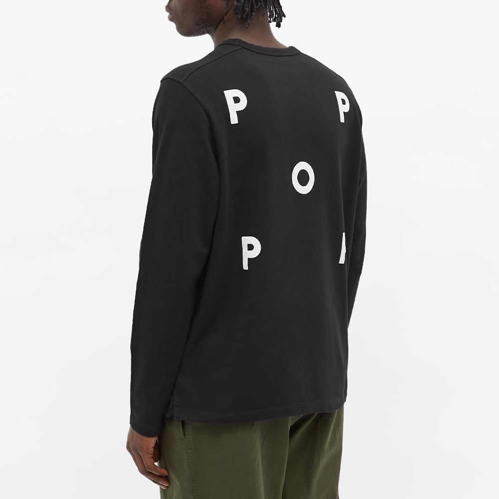 Pop Trading Company x NOS Long Sleeve Tee - Black & White