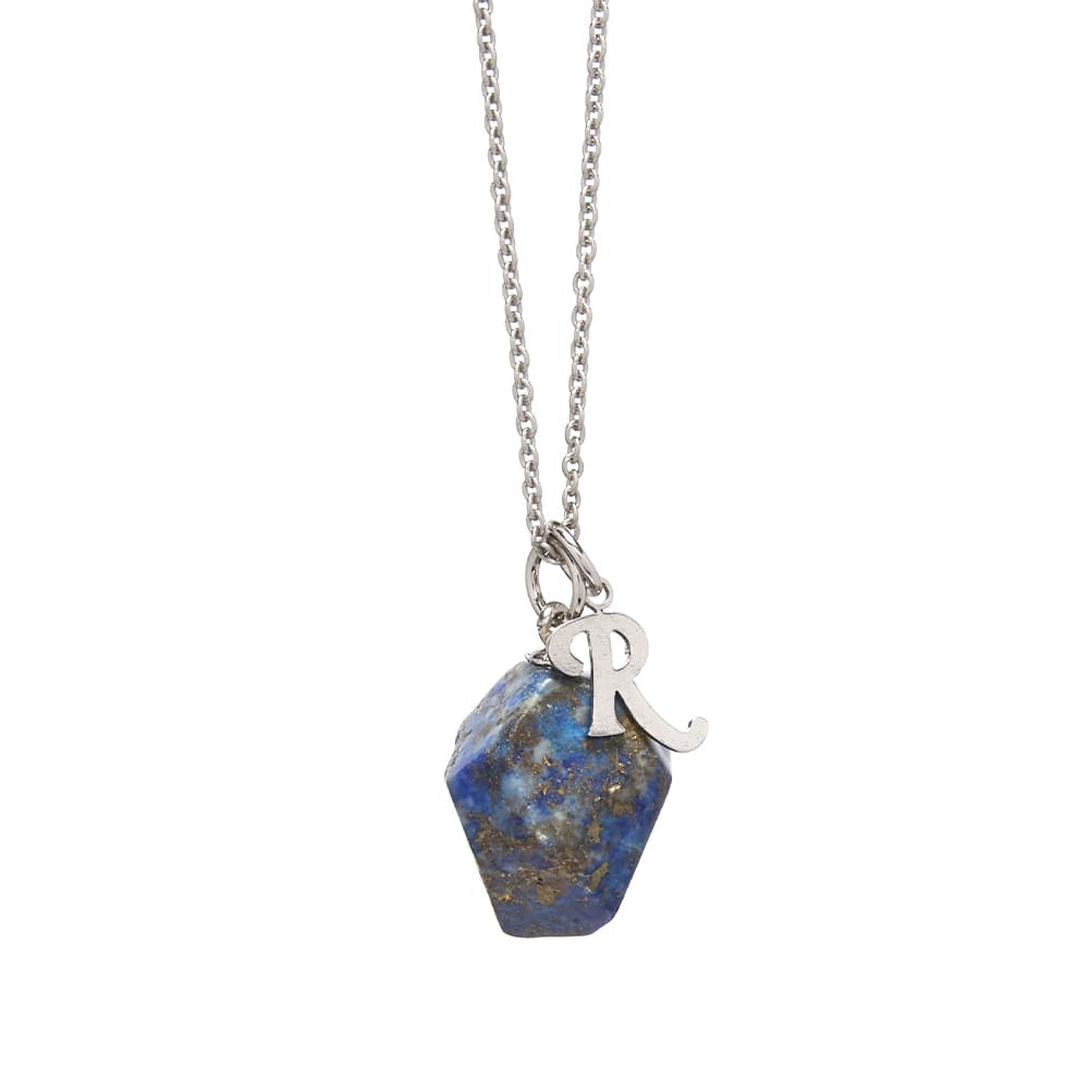 Raf Simons Stone Pendant and Necklace - Electric Blue