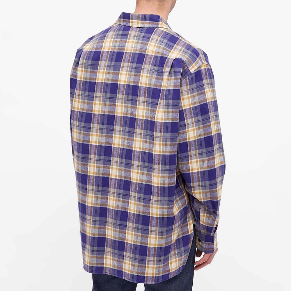 Acne Studios Saco Flannel Face Shirt - Purple Mustard Yellow