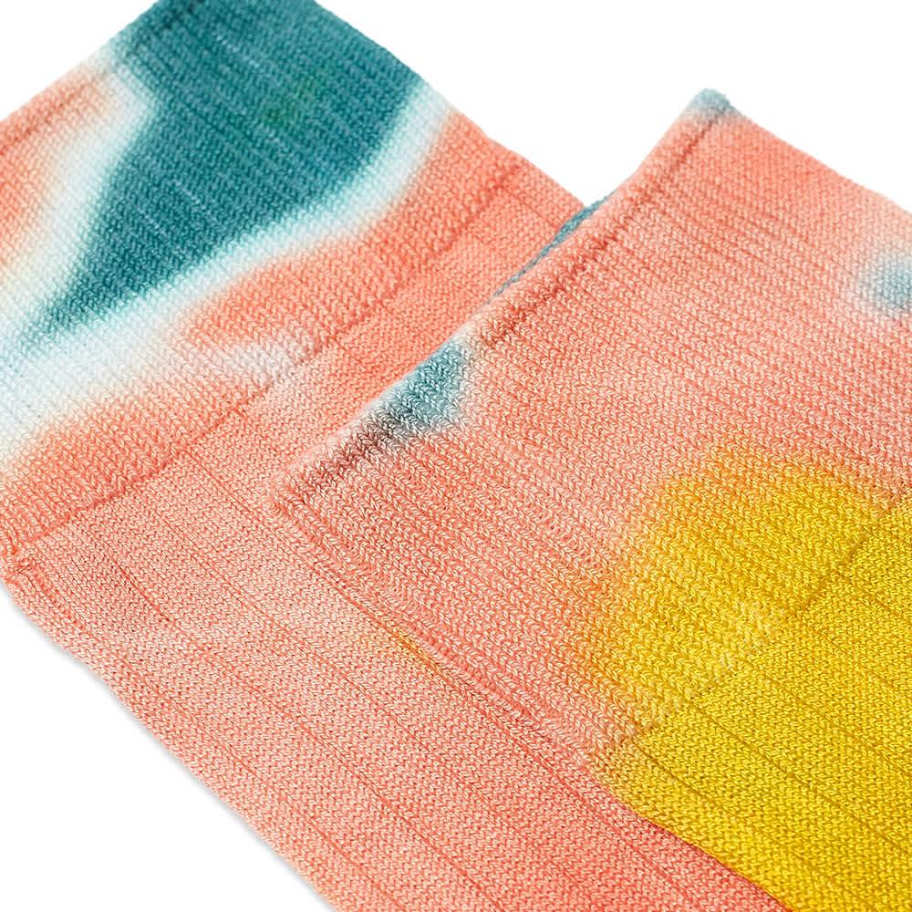 RoToTo Tie Dye Formal Crew Socks - Blue, Pink & Yellow