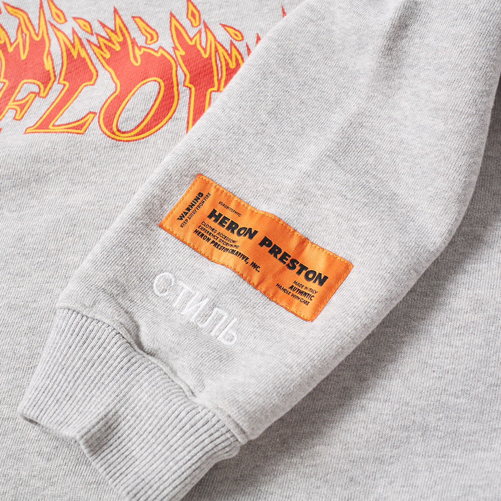 Heron Preston Flowers Crew Sweat - Grey & Orange