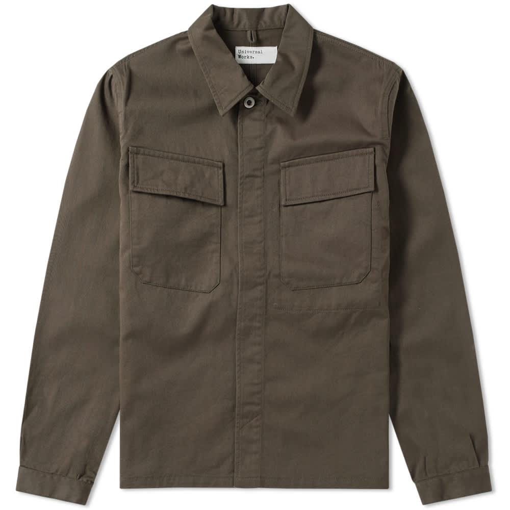 Universal Works MW Chore Overshirt - Olive