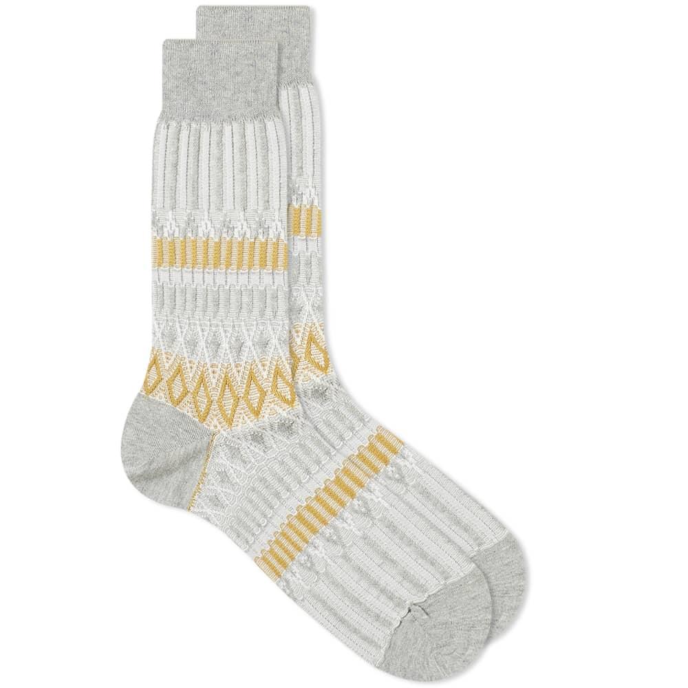 Ayame Basket Lunch Sock - Grey