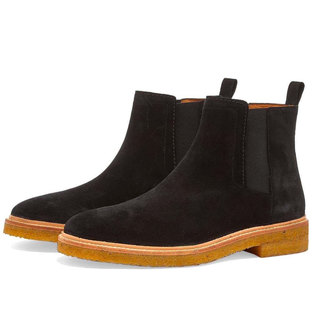 Zespa Suede Chelsea Boot - Black