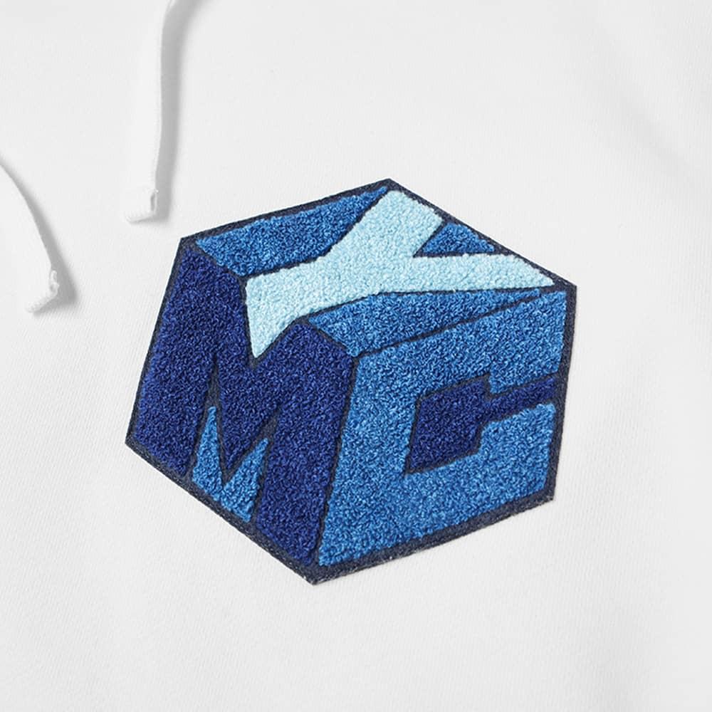 YMC x Pref Flock Logo Hoody - White