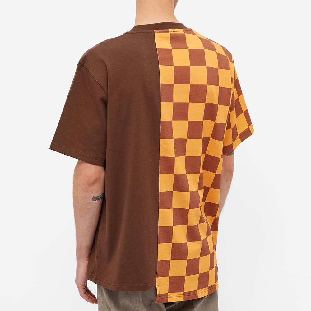 JW Anderson Checkerboard Patchwork Tee - Yellow & Pecan